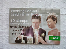 2013 Ireland RDS Spring Stamp and Coin Fair Souvenir Wedding Booklet  'N' Rate