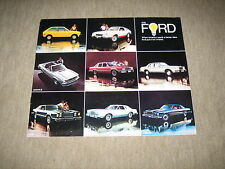 1978 Ford LTD / Fairmont / Granada / Pinto / Thunderbird USA Prospekt Brochure