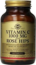 Vitamin C with Rose Hips, Solgar, 100 tablet 1000 mg