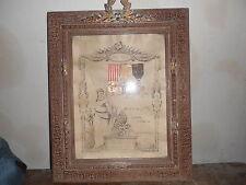 TRES BEAU CADRE D UN POILU  DU 111 RGT D INFANTERIE 1914/1918