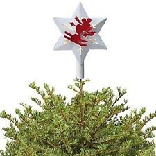 DISNEY PARKS RED & WHITE SKIING MICKEY MOUSE TREE TOPPER -NEW