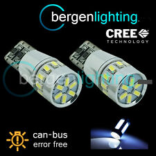 2X W5W T10 501 CANBUS ERROR FREE WHITE 18 SMD LED SIDE REPEATER BULBS SR103102