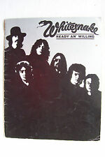 WHITESNAKE - 1980 Ready & Willing Tour Programme - Signed By Micky Moody