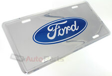 NEW!!! FORD LOGO LICENSE PLATE ALUMINUM STAMPED EMBOSSED METAL CHROME TAG