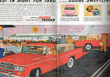 PUBLICITE ADVERTISING    1959   USA   DODGE TRUCKS SWEPTINE  (2 pages)