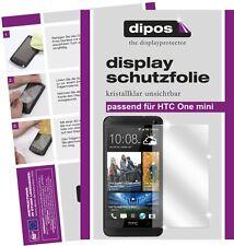 HTC One mini Schutzfolie klar Displayschutzfolie Folie unsichtbar dipos Schutz