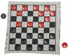 Jumbo Checker Rug Game , New, Free Shipping