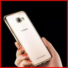 For Samsung Galaxy J7 Prime New Luxury UltraThin TPU Gold Plated Back Case Cover