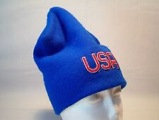Vintage U.S.A Embroidered Beanie Hat Men's One Size Fits All