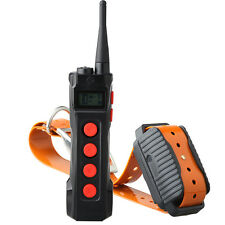 Aetertek  Remote Dog Shock Training Collar Auto Anti Bark Waterproof 1KM LCD