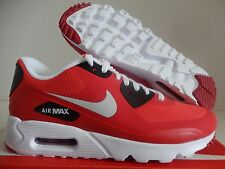 NIKE AIR MAX 90 ULTRA ESSENTIAL ACTION RED-PURE PLATINUM-RED SZ 7.5 [819474-600]
