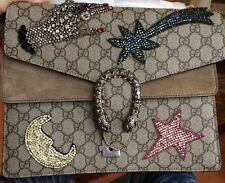 "Gucci Dionysus Embroidered ""Star~Shooting Star~Moon~Detailed Hand"" GG Bag NIB!"