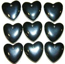 10 hematite pendants Lot wholesale stone healing hearts