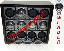 """Boxy"" Brand Brick Automatic Watch Winder System for Twelve Watches - (12-TH)"