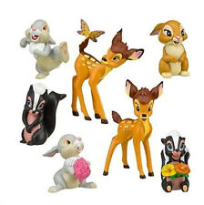 BAMBI AND FRIENDS CAKE TOPPERS 7 PLASTIC FIGURES BRAND NEW FREE P+P