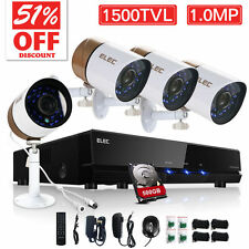 ELEC® 4CH 960H HDMI DVR 900TVL CCTV IR-Cut Outdoor Home Security Camera System