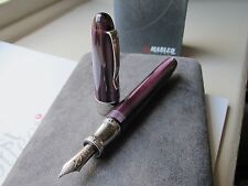 Marlen Sydney aubergine-purple resin Medium 14kt gold nib fountain pen MIB