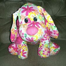 Dan Dee Puppy Dog Pink Yellow Green Orange Floral Plush Collector's Choice 2012