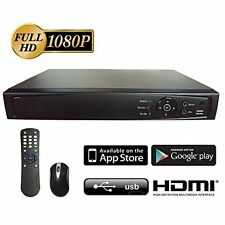 8 Channel HD-TVI Tribrid Turbo 1080P DVR with 1TB HDD, support Mobile view
