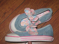 Blue's Clues Girl Toddler Denim Maryjane Sneakers Flat Bow Shoes Blue  Size 8