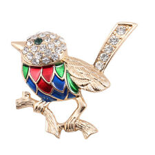 New Arrive Colorful Enamel Crystals Bird Gold Pin Lady's Brooch