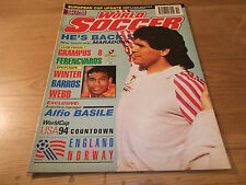 Football Magazine World Soccer October 1992 World Cup Countdown Maradona Grampus