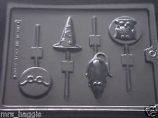 HARRY POTTER TYPE CHOCOLATE LOLLIPOP MOULD 4 ON 1 RAT OWL WIZARD HAT GLASSES