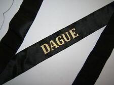 DAGUE  Marine-Ruban légendé authentique cap tally SOIE ORIGINAL