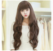PROMOTION!! 60cm Long Curly Korean Style Brown Cosplay Full Party Wigs FREE P&P