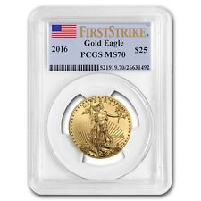 2016 1/2 oz Gold American Eagle MS-70 PCGS (First Strike)