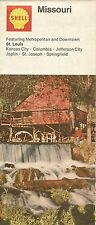 1972 SHELL OIL COMPANY Hodgson Watermill Road Map MISSOURI Route 66 Springfield