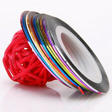 20 X Nail Art Striping Roll Tape Line Transfer Nail Sticker Nail Tip Decoration
