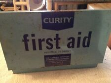 Old Curity metal first aid box