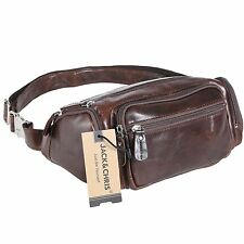Jack&Chris®Mens Leather Fanny Pack Cross Body Bag Waist bag Small bag, NM1885