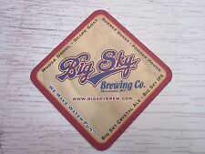 Beer Bar Coaster  ~~  Big Sky Brewing Scape Goat Ale ~ Missoula, Montana Brewery