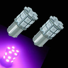 2x 1156 BAU15S 20-SMD 5050 LED RV Camper Trailer Interior Light Bulb Purple