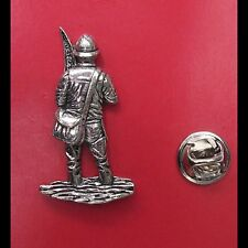 English Pewter Fisherman Fly Fishing Pin Badge Tie Pin / Lapel Badge - XTSBPF38