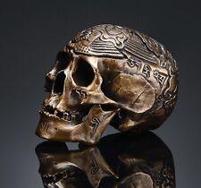 Fine Miniature MINI Bronze Cast Kapala Carved Human Skull Tibetan Buddhism D151