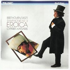BEETHOVEN/LISZT Symphony 3 Eroica CD 1985 KATSARIS Teldec 8.43201 Japan/W.German