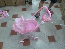 1 Passeggino carrozzina rosa per bambola gioco metallo qualita giocattolo toy