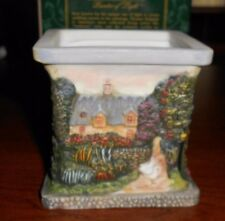 thomas kinkade porcelain candle holder jt6