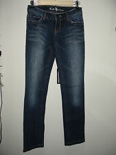 Kali Denim Size 1 (28x33) Distressed Straight Leg Jeans Stretch 109-8226