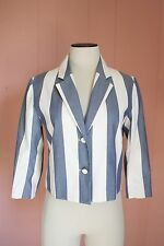 Maison Kitsune Stripe Jacket for JCrew 36 4 Cotton 3/4 Sleeve NWT $535 A5702