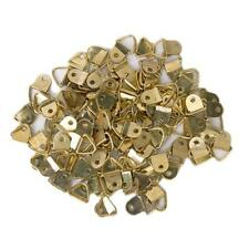 100pcs Golden Triangle D-Rings Picture Photo Frames Hanging Hanger w/ Screws