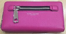 MARC JACOBS Gotham Begonia color Leather Zip Around Wallet NWT