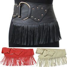 WOMEN ELASTIC Gold Metal WAIST HIP Stretch Gipsy Bohemian Belt Western Fashion
