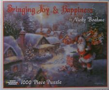 White Mountain Puzzle Christmas Bringing Joy & Happiness Nicky Boehme 1000 #3375