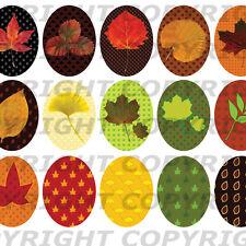 60 Images pour cabochons Feuilles d'automne ovales 30X40 18x25 13x18 rouge