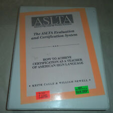 VHS Video The ASLTA Evaluation and Certification System 1996 Exlib