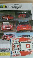 Decals 1/18 réf 809 Citroën C2 S1600 Loeb Présentation  2004
